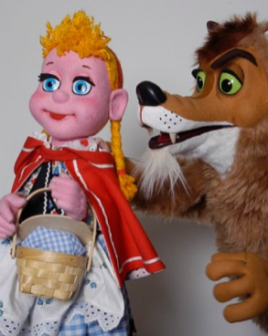 """The Big Bad, Little Red, Pig Show"" by Lee Bryan, at the Center for Puppetry Arts in Atlanta through Jan. 25."