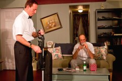 """""""The Odd Couple"""" by Neil Simon, at the Oil Lamp Theatre in Glenview, Ill., through Feb. 22. Pictured: Steve Zeal and Chris Miller."""