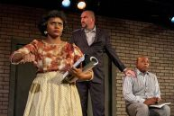 """""""Trouble in Mind"""" by Alice Childress, at Moxie Theatre in San Diego, Calif., through Feb. 22. Pictured: Monique Gaffney, Ruff Yaeger and Victor Morris. (Photo by Daren Scott)"""