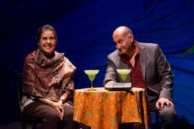 """Guadalupe in the Guest Room"" by Tony Meneses, at Two River Theater in Red Bank, N.J., in 2015.. Pictured: Socorro Santiago and Alfredo Huereca. (Photo by T. Charles Erickson)"
