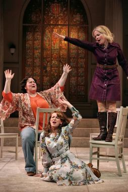 """""""God Girl"""" by Kristine Holmgren, at History Theatre in St. Paul, Minn., through Mar. 1. Pictured: Meagen Kedrowski, Hannah Benedict and Summer Hagen. (Photo by Scott Pakudaitis)"""