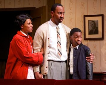 """A Raisin in the Sun"" by Lorraine Hansberry, at Open Stage of Harrisburg in Harrisburg, Pa., through Feb. 22. Pictured: Leonard Dozier, Jessica Gondwe and Madison Bond."