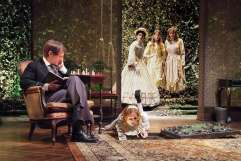 """The Missing Pages of Lewis Carroll"" by Lily Blau, at Theatre @ Boston Court in Pasadena, Calif., through Feb. 22. Pictured: h Leo Marks, Corryn Cummins, Erica Hanrahan-Ball, Ashley Jones and Erin Barnes. (Photo by Ed Krieger)"