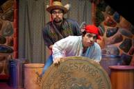 """Dia De Los Cuentos""---by Buck Busfield, Jerry Montoya, and Dave Pierini---at B Street Theatre in Sacramento, Calif., playing through March 29. Pictured: Nestor Campos Jr., left, and Armando Rivera."