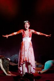 """Carrie the Musical"" by Michael Gore, Dean PItchford and Lawrence D. Cohen, at La Mirada Theatre for the Performing Arts in La Mirada, Calif., through Apr. 5. Pictured: Emily Lopez."