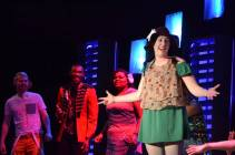 """Godspell"" by Stephen Schwartz and John-Michael Tebelak, at Trustus Theatre in Columbia, S.C., through Apr. 11. Pictured: Chase W. Nelson, Mario McClean, Shannon Nicole and Kayla Cahill."