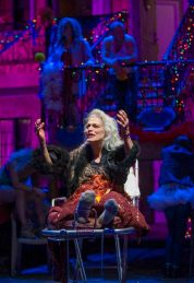 """Judith Roberts in Lisa D'Amour's """"Airline Highway"""" at Steppenwolf Theatre Company. (Photo by Michael Brosilow)"""