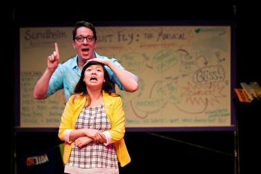"""""""Fruit Fly,"""" written and performed by Max Wojtanowicz and Sheena Janson, at Illusion Theatre in Minneapolis through Apr. 11. (Photo by Lauren B Photography)"""
