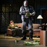 """""""Buried Child"""" by Sam Shepard, at Palm Beach Dramaworks in West Palm Beach, Fla., through Apr. 26. Pictured: Rob Donohoe and Paul Tei. (Photo by Alicia Donelan)"""