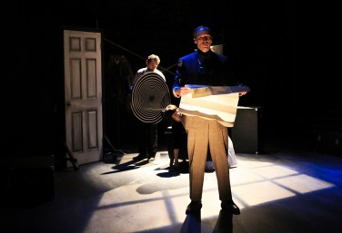 """The 39 Steps"" by Patrick Barlow, at Oregon Contemporary Theatre in Eugene, Ore., through Feb. 4. Pictured: Tom Wilson. (Photo by Athena Delene)"