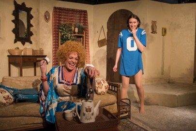 """""""3C"""" by David Adjmi, at A Red Orchid Theatre in Chicago through June 4. Pictured: Jennifer Engstrom and Christina Gorman. (Photo by Michael Brosilow)"""