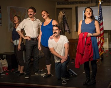 """""""44 Plays for 44 Presidents,"""" by Andy Bayiates, Sean Benjamin, Genevra Gallo-Bayiates, Chloe Johnston, and Karen Weinberg, at Oil Lamp Theater in Glenview, Ill., through Nov. 13."""