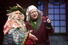 """A Christmas Carol,"" adapted by Buck Busfield from Charles Dickens, at B Street Theatre in Sacramento, Calif., through Dec. 31. Pictured: Amy Kelly and Greg Alexander. (Photo by B Street Theatre Staff)"