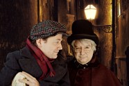 """""""A Christmas Carol"""" adapted by Buck Busfield, at B Street Theatre in Sacramento, Calif., through Dec. 27. Pictured: John Lamb and Greg Alexander. (Photo by Jerry Montoya)"""
