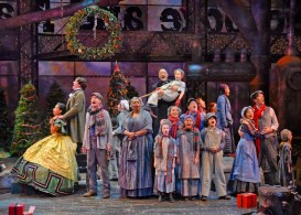 """""""A Christmas Carol"""" adapted by Kevin Moriarty from Dickens, at Dallas Theater Center through Dec. 26. (Photo by Karen Almond)"""