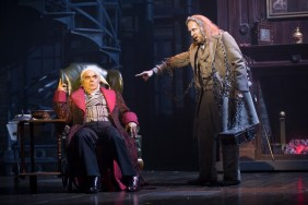 """A Christmas Carol"" adapted by Michael Wilson from Dickens, at Ford's Theatre in Washington, D.C., through Dec. 31. Pictured: Edward Gero and James Konicek. (Photo by Scott Suchman)"