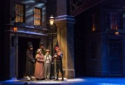 """""""A Christmas Carol"""" adapted by Barbara Field from Dickens, at Kentucky's Actors Theatre of Louisville through Dec. 23. Pictured: Jayson Speters, Jermaine Miles, Celina Dean, Calvin Ramirez, and Douglas Waterbury-Tieman."""