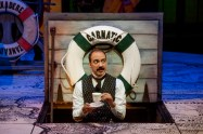 """""""Around the World in 80 Days"""" adapted by Mark Brown from Jules Verne, at the Alley Theatre in Houston, through April 3. Pictured: Evan Zes."""