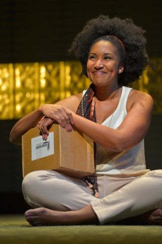 """Aubergine"" by Julia Cho, at Berkeley Rep in Berkeley, Calif., through March 27. Pictured: Safiya Fredericks. (Photo by Kevin Berne)"