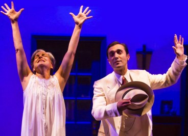 """""""Bathing in Moonlight"""" by Nilo Cruz, at McCarter Theatre Center in Princeton, N.J., through Oct. 9. Pictured: Priscilla Lopez and Frankie J. Alvarez. (Photo by T Charles Erickson)"""
