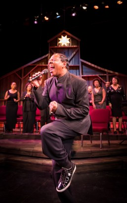 """""""Black Nativity: A Tradition of Love and Light"""" by Langston Hughes, at Penumbra Theatre in St. Paul, Minn. through Dec. 20. Pictured: Dennis Spears and cast. (Photo by Allen Weeks)"""