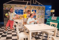 """""""Blueberry Toast"""" by Mary Laws, at Echo Theater Company in Los Angeles, through Oct. 24. Pictured: Michael Sturgis. Jacqueline Wright, Alexandra Freeman, and Albert Dayan. (Photo by Darrett Sanders)"""