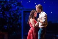 """""""Bridges of Madison County"""" adapted by Marsha Norman and Jason Robert Brown from Robert James Waller, at Center Theatre Group in Los Angeles in 2016. Pictured: Elizabeth Stanley and Andrew Samonsky. (Photo by Matthew Murphy)"""