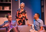 """""""Daniel's Husband"""" by Michael McKeever, at New Conservatory Theatre Center in San Francisco, through Feb. 26. Pictured: Michael Monagle, Christine Macomber, and Daniel Redmond. (Photo by Lois Tema)"""