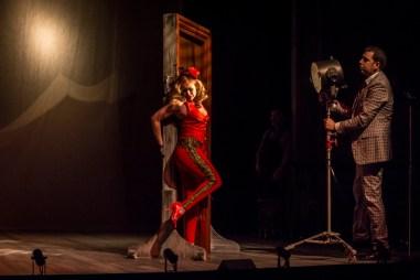 """Destiny of Desire"" by Karen Zacarías, at the Goodman Theatre in Chicago through April 2. Pictured: Ruth Livier and Fidel Gomez. (Photo by Liz Lauren)"