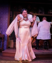 """""""Devil's Music: The Life and Blues of Bessie Smith"""" by Joe Brancato, at Milwaukee Repertory Theater, through March 20. Pictured: Zonya Love. (Photo by Tony Duvall)"""