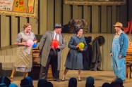 """""""Doctor! Doctor!"""" by Matt Zembrowski, at Northern Sky Theater in Fish Creek, Wisc., through Aug. 26. Pictured: Kelly Doherty, Bill Theisen, Eva Nimmer, and Doug Mancheski. (Photo by Len Villano)"""