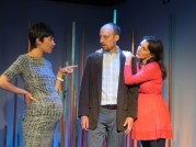 """Halftime With Don"" by Ken Weitzman, at New Jersey Repertory Company in Long Branch, N.J., through July 30. Pictured: Lori Vega, Dan McVey, and Susan Maris."