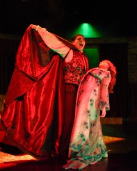 """""""Dracula: The Vampire Play,"""" adapted by Hamilton Deane and John L. Balderston from Bram Stoker, at Dallas Children's Theater through Oct. 29. Pictured: Peter Sanchez and Sierra Stead. (Photo by Karen Almond)"""