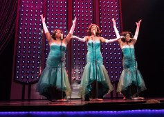 """""""Dreamgirls"""" by Tom Eyen and Henry Krieger, at Virginia Repertory Theatre in Richmond, Va., through Aug. 7. Pictured: Desirée Roots, Zuri Washington, and Felicia Curry. (Photo by Aaron Sutten)"""