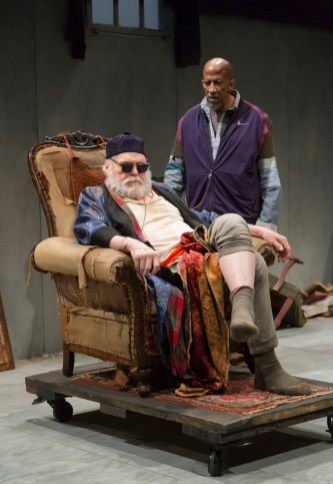 """""""Endgame"""" by Samuel Beckett, at Long Wharf Theatre in New Haven, Conn., in 2017. Pictures: Brian Dennehy and Reg E. Cathey. (Photo by T Charles Erickson)"""