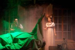 """Frankenstein"" adapted by Jerry Montoya from Mary Shelley, at B Street Theatre in Sacramento, Calif., through March 20. Pictured: John Lamb and Megan Wicks."