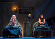 """""""Grey Gardens"""" by Doug Wright, Scott Frankel, and Michael Korrie, at Center Theatre Group in Los Angeles, through Aug. 14. Pictured: Betty Buckley and Rachel York. (Photo by Craig Schwartz)"""