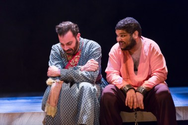 """""""Guards at the Taj"""" by Rajiv Joseph, at Woolly Mammoth Theatre Company in Washington, D.C., through Feb. 28. Pictured: Ethan Hova and Kenneth De Abrew."""