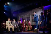 """""""Guys and Dolls,"""" by Jo Swerling, Abe Burrows, and Frank Loesser, at Finger Lakes Musical Theatre Festival in Auburn, N.Y., through June 28. Pictured: Jefferson Behan and cast."""