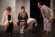 """""""Hedda Gabler"""" by Henrik Ibsen, at Antaeus Theatre Company in North Hollywood, Calif., through July 17. Pictured: Jaimi Paige, Ann Noble, and Adrian LaTourelle. (Photo by Karianne Flaathen)"""