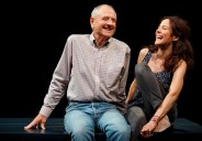 """""""Heisenberg"""" by Simon Stephens, at Manhattan Theatre Club in New York City, through Dec. 11. Pictured: Denis Arndt and Mary-Louise Parker. (Photo by Joan Marcus)"""