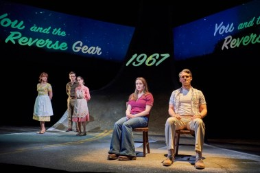 """How I Learned to Drive"" by Paula Vogel, at Cleveland Play House through March 26. Pictured: Karis Danish, Nick LaMedica, Remy Zaken, Madeleine Lambert, and Michael Brusasco. (Photo by Roger Mastroianni)"