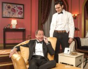"""""""It's Only A Play"""" by Terrence McNally, at GableStage in Coral Gables, Fla., through Feb. 21. Pictured: Michael McKeever and Joe Ferrarelli. (Photo by George Schiavone)"""