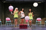 """""""Kentucky"""" by Leah Nanako Winkler, at East West Players in Los Angeles through Dec. 11. Pictured: Jacqueline Misaye (center), Megan Therese Rippey, and Jenapher Zheng. (Photo by Michael Lamont)"""