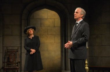 """""""King Charles III"""" by Mike Bartlett, at American Conservatory Theater in San Francisco through Oct. 9. Pictured: Jeanne Paulsen and Robert Joy. (Photo by Kevin Berne)"""