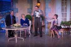 """""""Later Life"""" by A.R. Gurney, at Coachella Valley Repertory Theatre in Rancho Mirage, Calif., through May 21. Pictured: Teri Bibb, Joel Bryant, William Fair, and Barbara Niles. (Photo by Jim Cox)"""