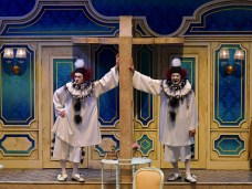 """""""Lend Me A Tenor The Musical,"""" by Peter Sham, Brad Carroll, Ken Ludwig, and Chris Walker at Pacific Conservatory Theatre in Santa Maria, Calif., through May 14. Pictured: Joe Ogren and George Walker. (Photo by Luis Escobar Reflections Photography Studio)"""