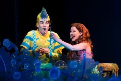 """The Little Mermaid,"" by Alan Menken, Howard Ashman, Glenn Slater, and Doug Wright, at La Mirada Theatre for the Performing Arts in La Mirada, Calif., through June 26. Pictured: Adam Garst and Alison Woods. (Photo by Bruce Bennett)"