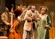 """Ma Rainey's Black Bottom"" by August Wilson, at the Mark Taper Forum in Los Angeles, through Oct. 16. Pictured: Keith David, Damon Gupton, Lamar Richardson, and Lillias White. (Photo by Craig Schwartz)"