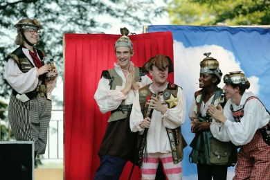 """""""A Midsummer Night's Dream"""" by Shakespeare, a Cincinnati Shakespeare Company production on tour through Sept. 1. (Photo by Mikki Schaffner Photography)"""